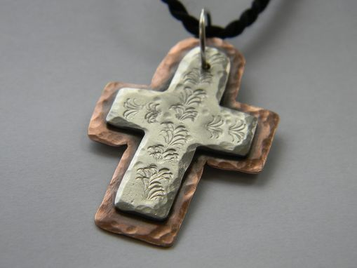 Custom Made Mixed Metal Custom Cross In Silver And Copper