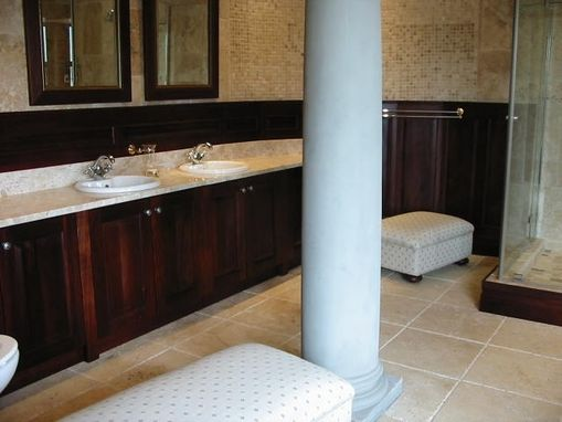 Custom Made Bathroom Vanities And Wainscoting.