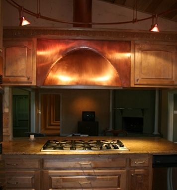Custom Made Elegant Copper Range Hood