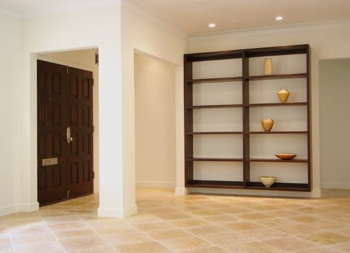 Custom Made Entry Door And Bookcase