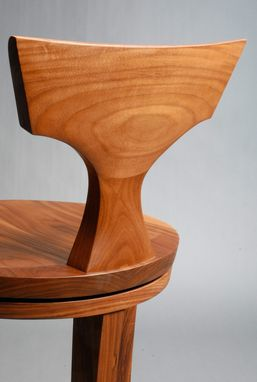 Custom Made American Walnut Counter Or Bar Stool