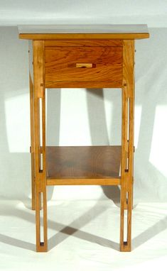 Custom Made Custom Cherry Mission/Arts And Crafts Style Side Tables