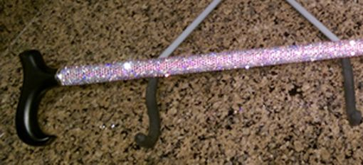 Custom Made Swarovski Rhinestone Walking Cane