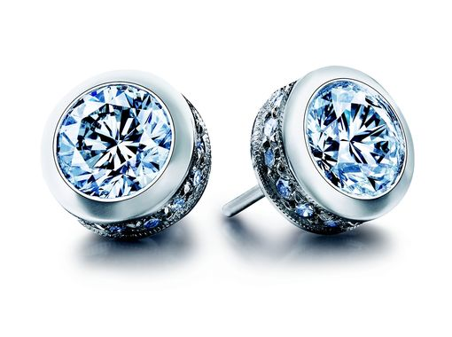 Custom Made Bezel Stud Earrings