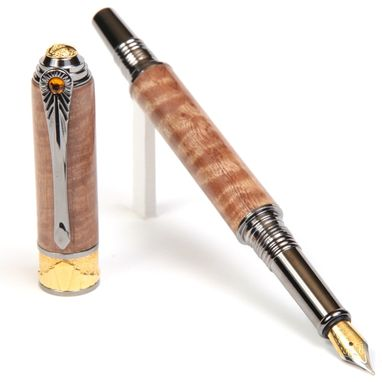 Custom Made Lanier Art Deco Fountain Pen - Pyinma - Af6w80
