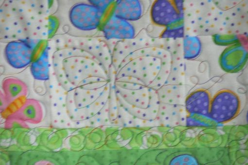 Custom Made Custom Baby Butterfly Quilt