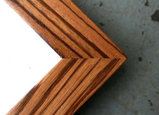 Custom Made Exotic African Zebrawood Natural Finish Picture Frame (8x10)