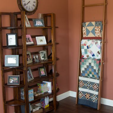 Custom Made Quilt Ladder, 105 Inch Height, 6 Rungs