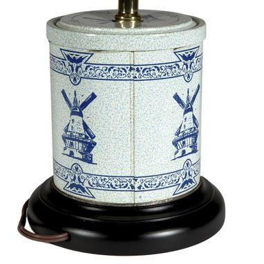 Custom Made Vintage Blue Windmill Caddy Lamp