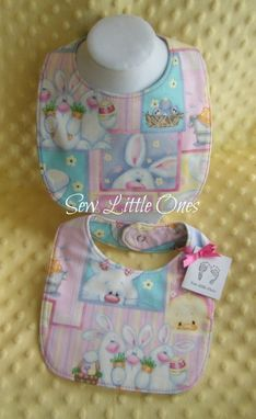 Custom Made Reversible Spring Baby Bib-Set Of 2- Ready To Ship