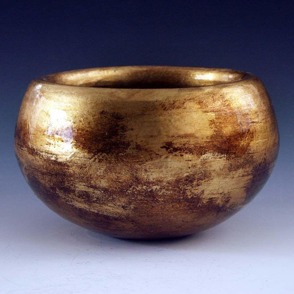 Handmade Ceramic Vase Lamp Bases With Imitation Gold Leaf