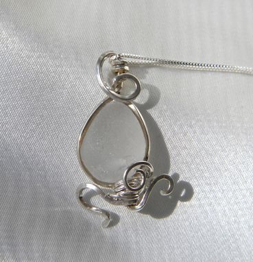 Custom Made Dancing Octopus Necklace With White Sea Glass