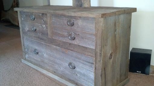 Custom Made Barn Wood Tv Stand
