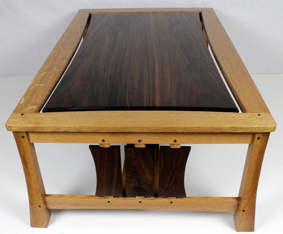 Buy a handmade modern arts and crafts cocktail coffee for Arts and crafts furniture makers