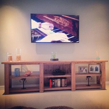 Custom Made 8ft Rustic Tv Stand W/ 6 Console Stations