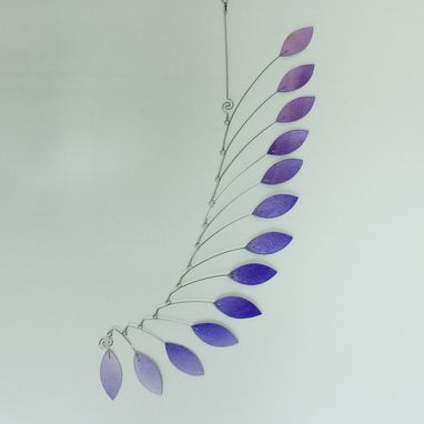 Custom Made Mobile Art Lavender Wave - Hanging Kinetic Sculpture For The Child In Us All