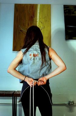 Custom Made Reversible Upcycled Denim & Feed Sack Apron