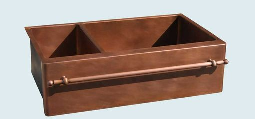 Custom Made Copper Sink With Copper Towel Bar