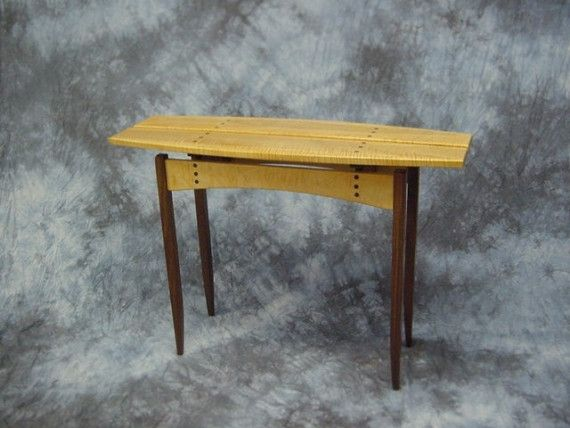 Contemporary Hall Table hand made contemporary split-top hall table/credenzan. dean