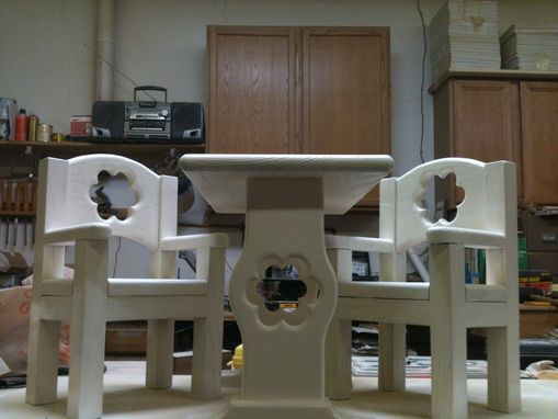 Custom Made American Girl Doll Table And Chairs