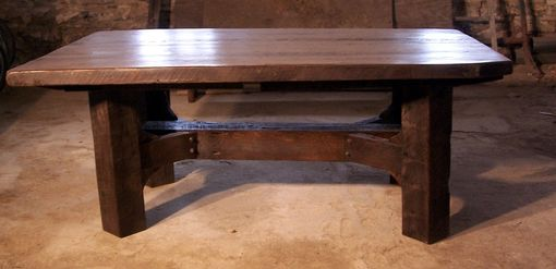 Buy a Handmade Timberframe Thick Plank Farm Table, made to order ...