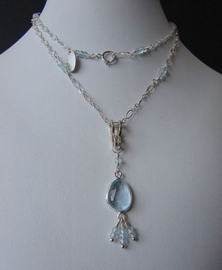 Custom Made Swiss Blue Topaz Necklace And Pendant