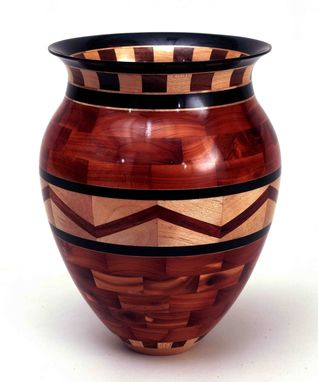 Custom Made Segmented Turned Vessel