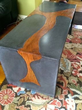 Custom Made Concrete Waterfall Coffee Table Indoor Or Outdoor