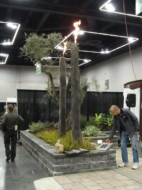 Custom Made Natural Basalt - Pencil Column Fire Feature