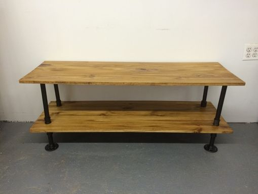 Custom Made Industrial Tv/Media Console And Record Stand
