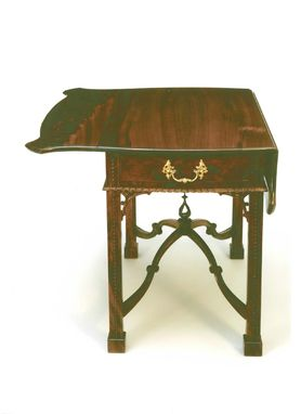 Custom Made Chippendale Drop Leaf Pembroke Table