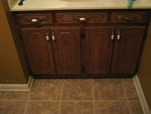 Custom Made Bathroom Sink And Cabinet