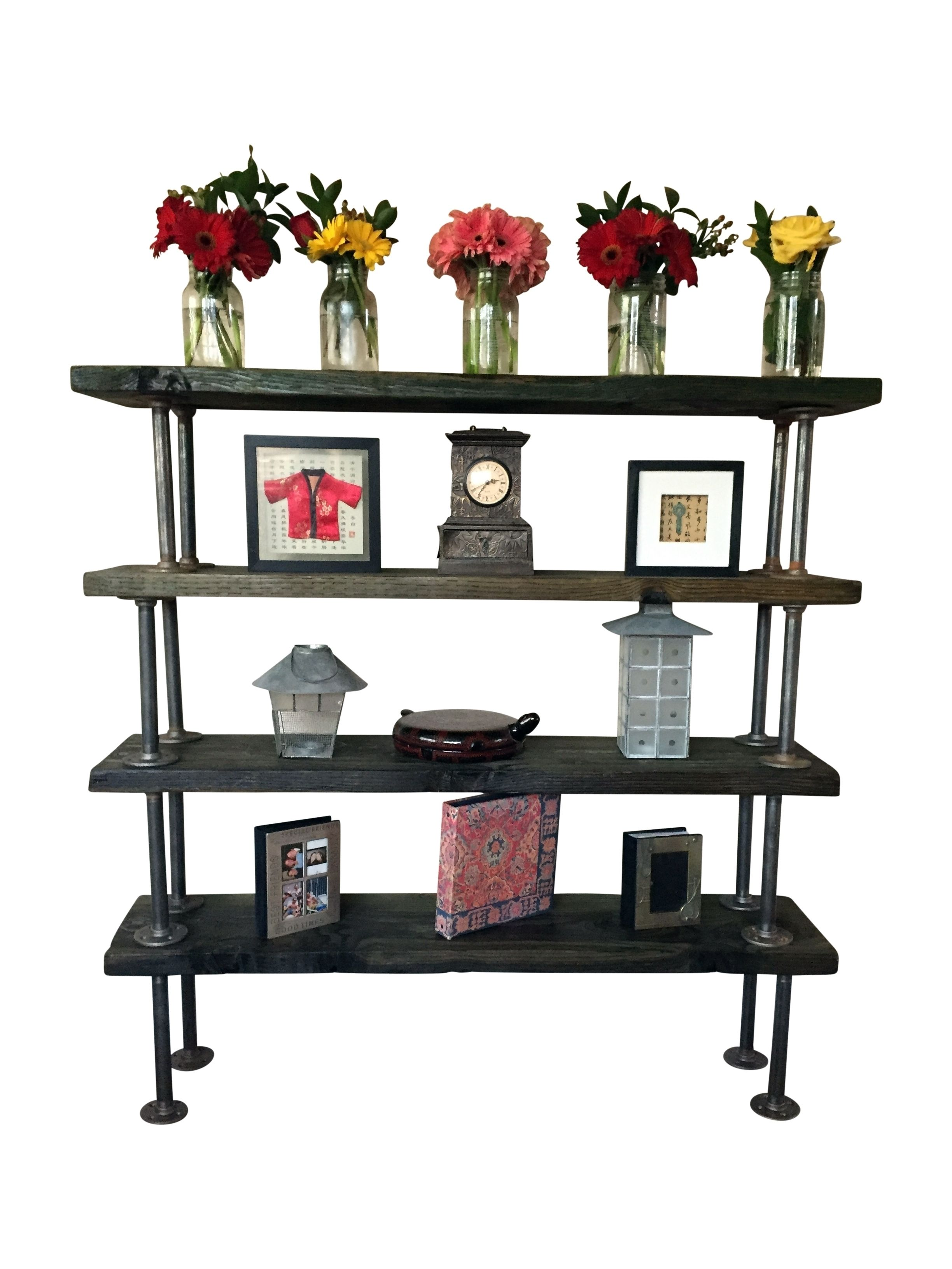 Buy Hand Crafted Reclaimed Wooden Bookcase With Industrial