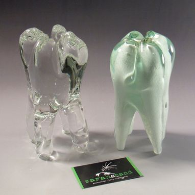 Custom Made Solid Hand Blown Glass Wisdom Tooth