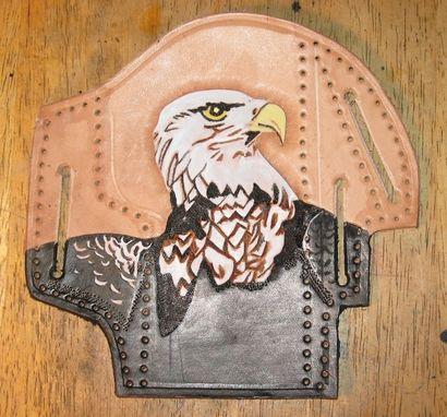 Custom Made Custom Tooled And Painted Holster