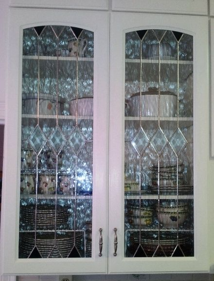 Custom Made Stained Gl Cabinet Inserts Clear Elegance Ci 9