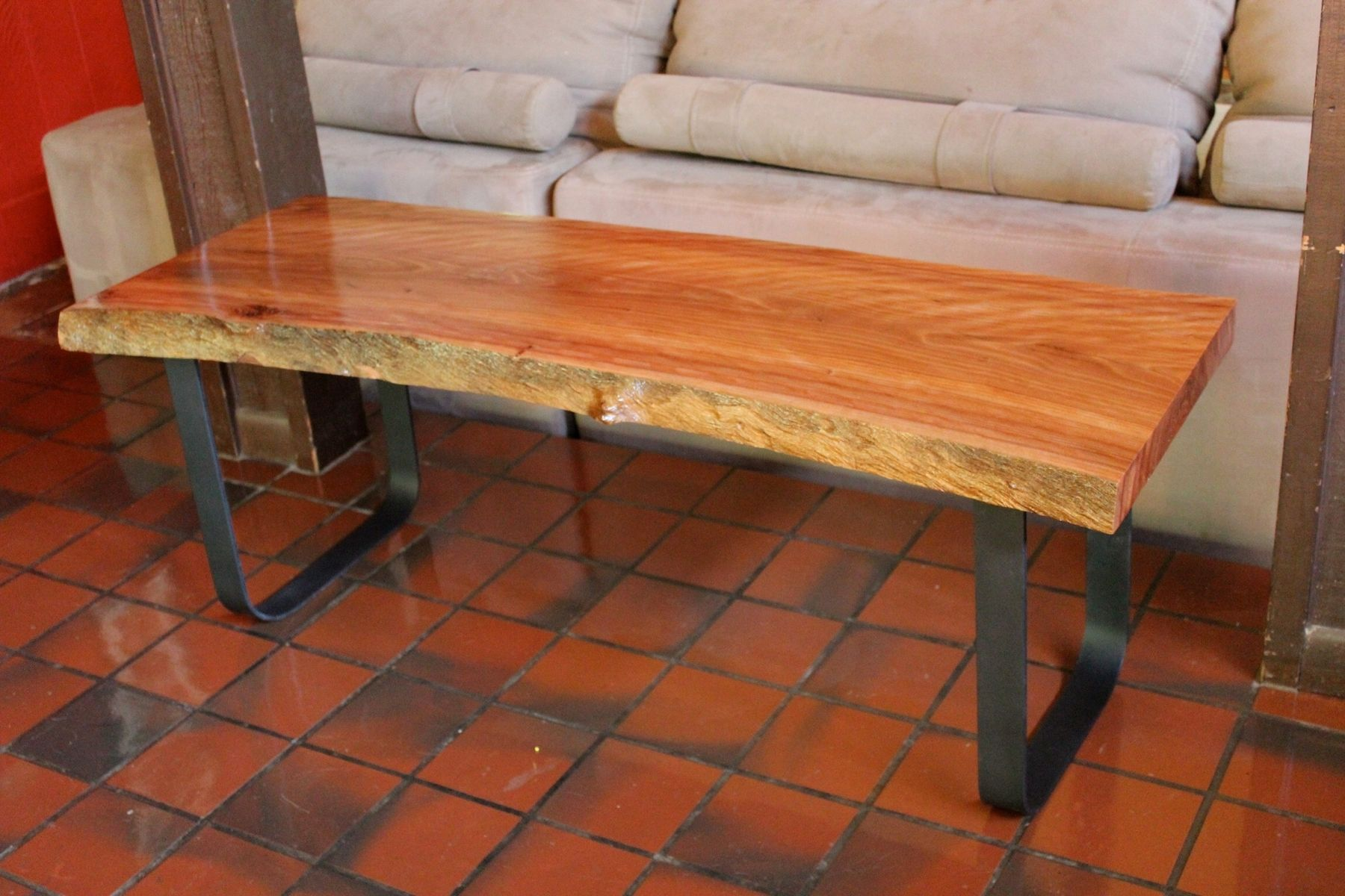 Hand Crafted River Red Gum Live Edge Table by Hill Haus Woodworks