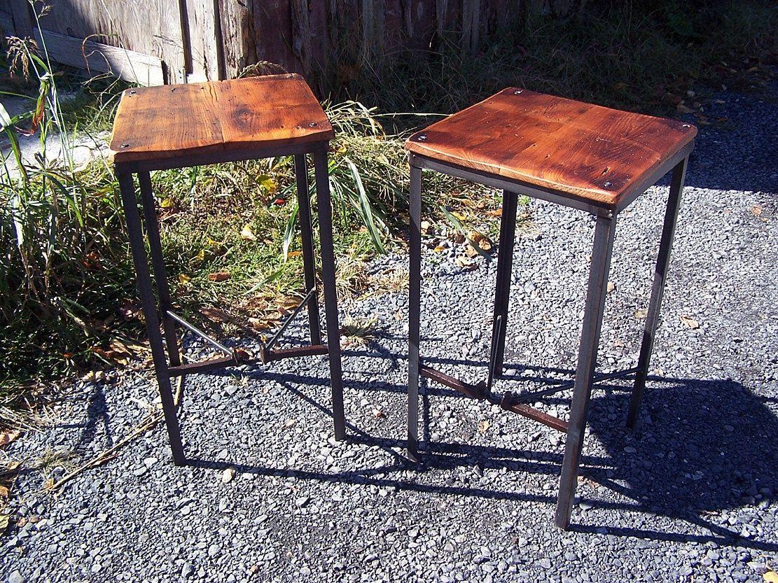 Buy Custom Made Urban Style Reclaimed Wood Bar Stools With