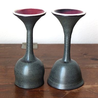 Custom Made Custom Ceramic Wine Glasses, Goblets, Or Chalices For Wine Tasting, Toasts, Dining