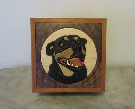 Custom Made Custom Intarsia Pet Urn