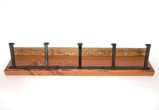 Custom Made Railroad Spike Hat/Coat Rack With Shelf