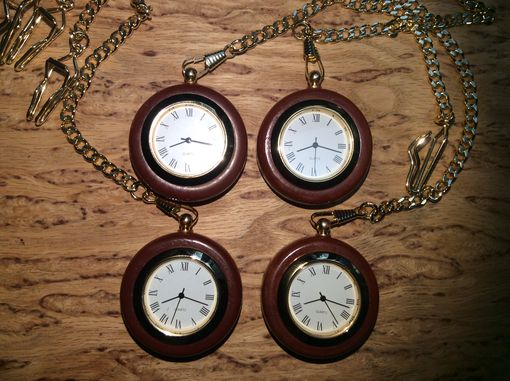 Custom Made Laser Engraved Pocket Watches