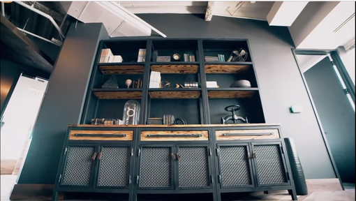 Custom Made Industrial Hutch