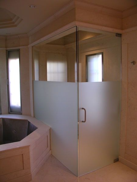 Hand Crafted Frameless Shower Door By River Glass Designs