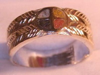 Custom Made Medicine Wheel Ring With 4 Directions