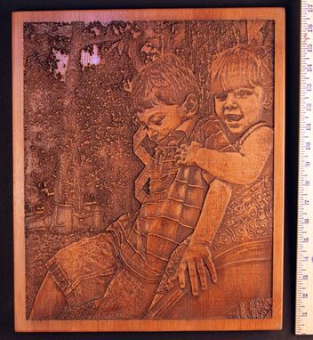 Custom Made Get Your Picture Carved Into Bamboo Or Other Wood Types