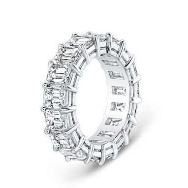 Hand Made Baguette Eternity Shared Prong Wedding Band by EVS Designs ...