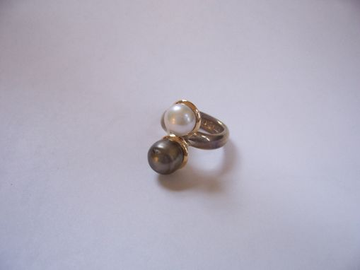 Custom Made Double Pearl Ring