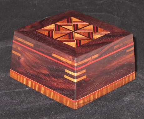 Custom Made Patterned Rosewood Box