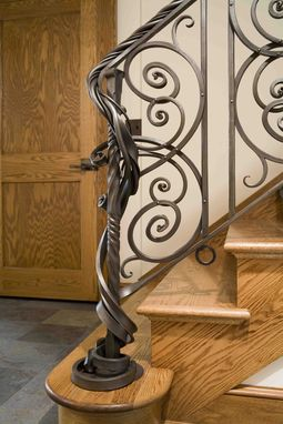 Custom Made Forged Steel Railing